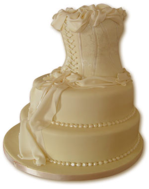 Ivory Corset Wedding Cake