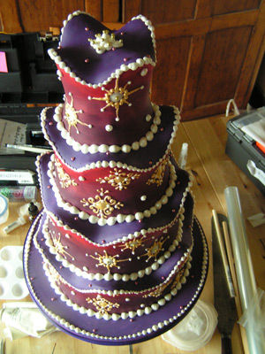 Medieval Splendour Cake - View from above